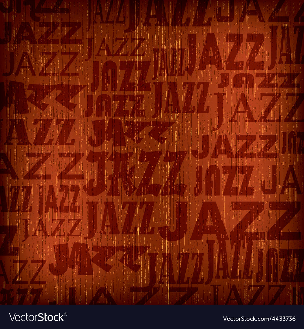 Abstract wooden brown background with word jazz vector | Price: 1 Credit (USD $1)