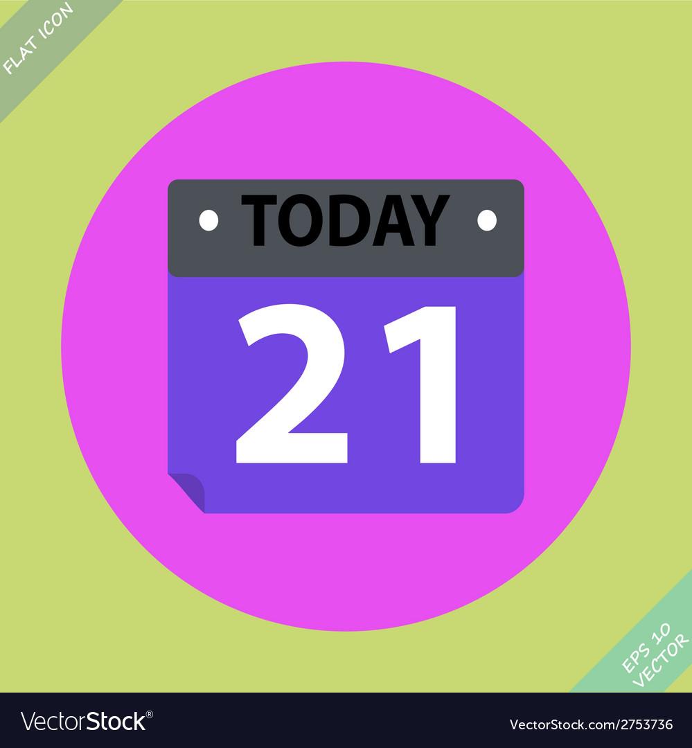 Calendar icon -  flat design vector | Price: 1 Credit (USD $1)