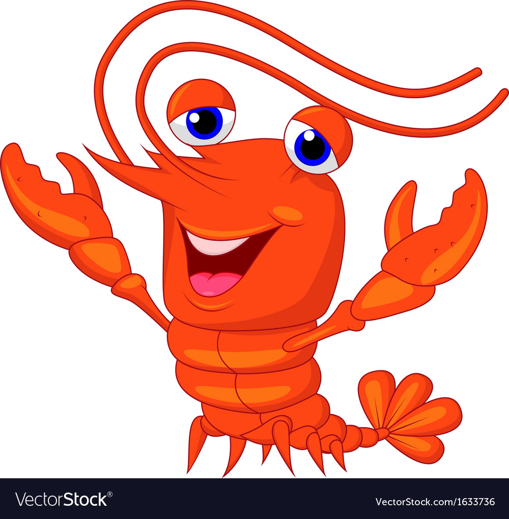 Cute lobster cartoon presenting vector | Price: 1 Credit (USD $1)