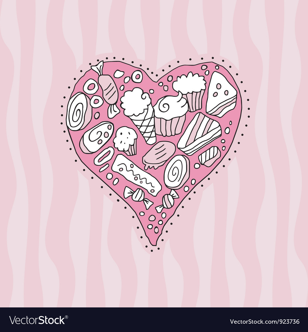 Doodle heart vector | Price: 1 Credit (USD $1)