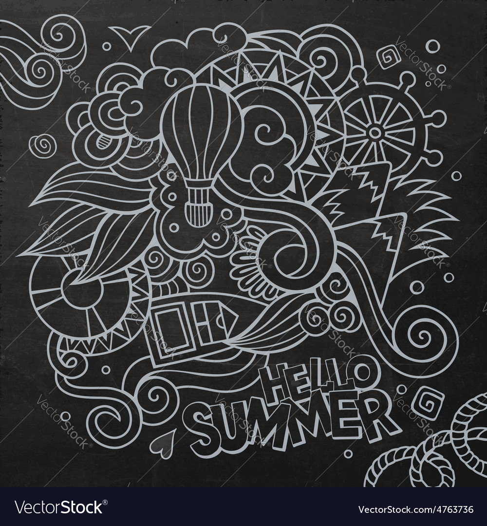 Doodles abstract decorative summer vector | Price: 1 Credit (USD $1)