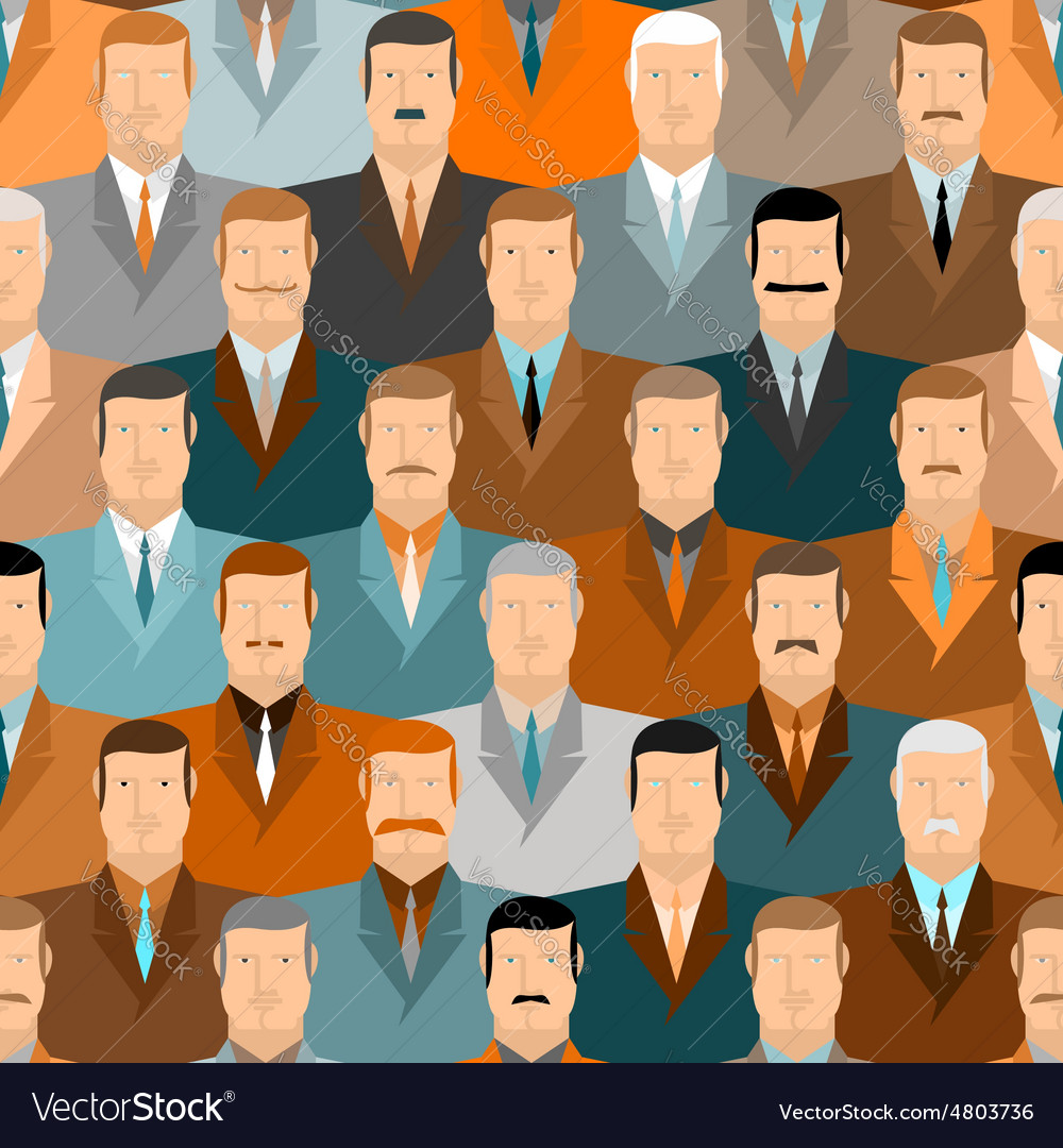 Man seamless pattern people vintage colors office vector | Price: 1 Credit (USD $1)