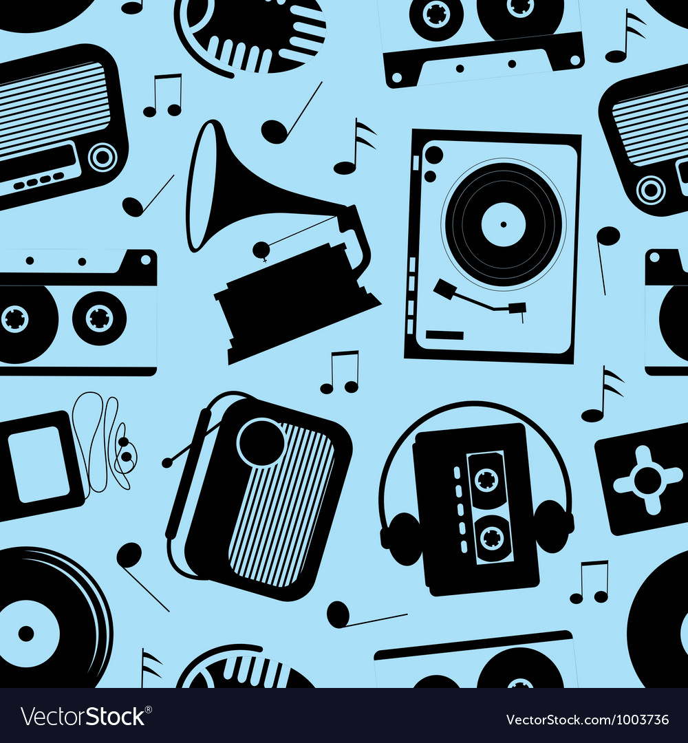 Musical seamless pattern vector | Price: 1 Credit (USD $1)