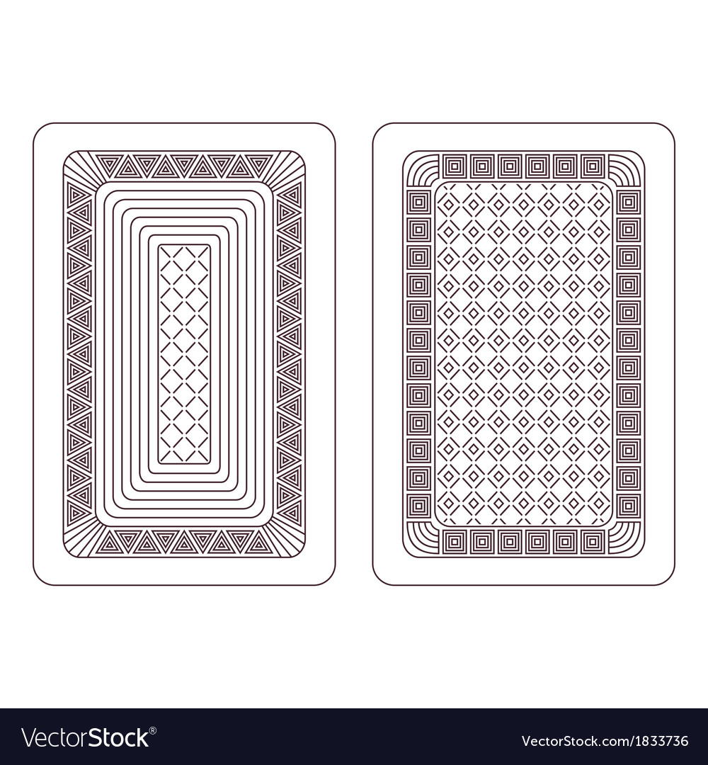 Ornament for playing cards vector | Price: 1 Credit (USD $1)