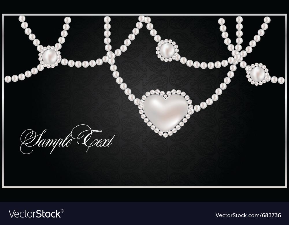 Pearl hearts vector | Price: 1 Credit (USD $1)
