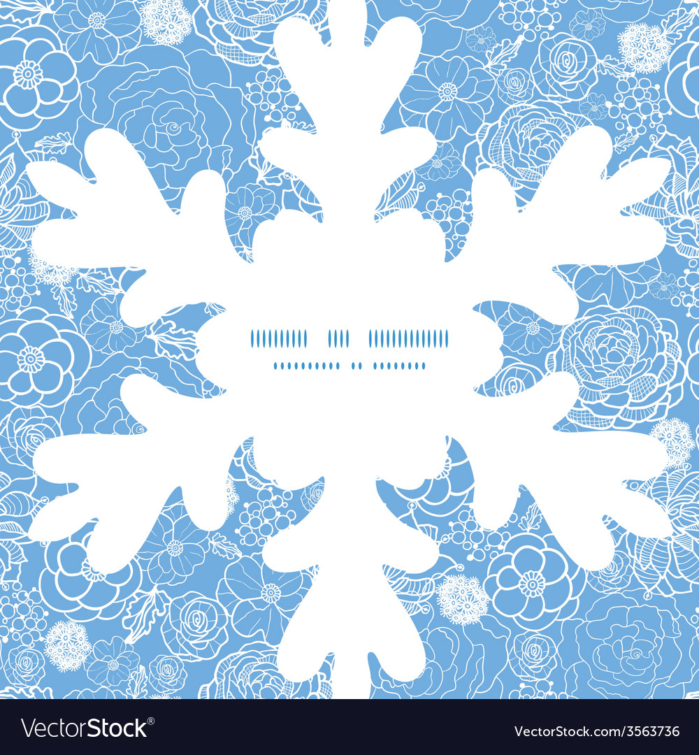 Purple lace flowers christmas snowflake silhouette vector | Price: 1 Credit (USD $1)