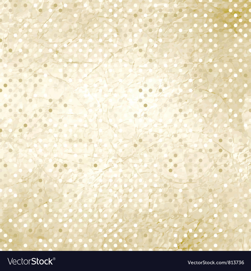 Vintage polka dots background vector   Price: 1 Credit (USD $1)