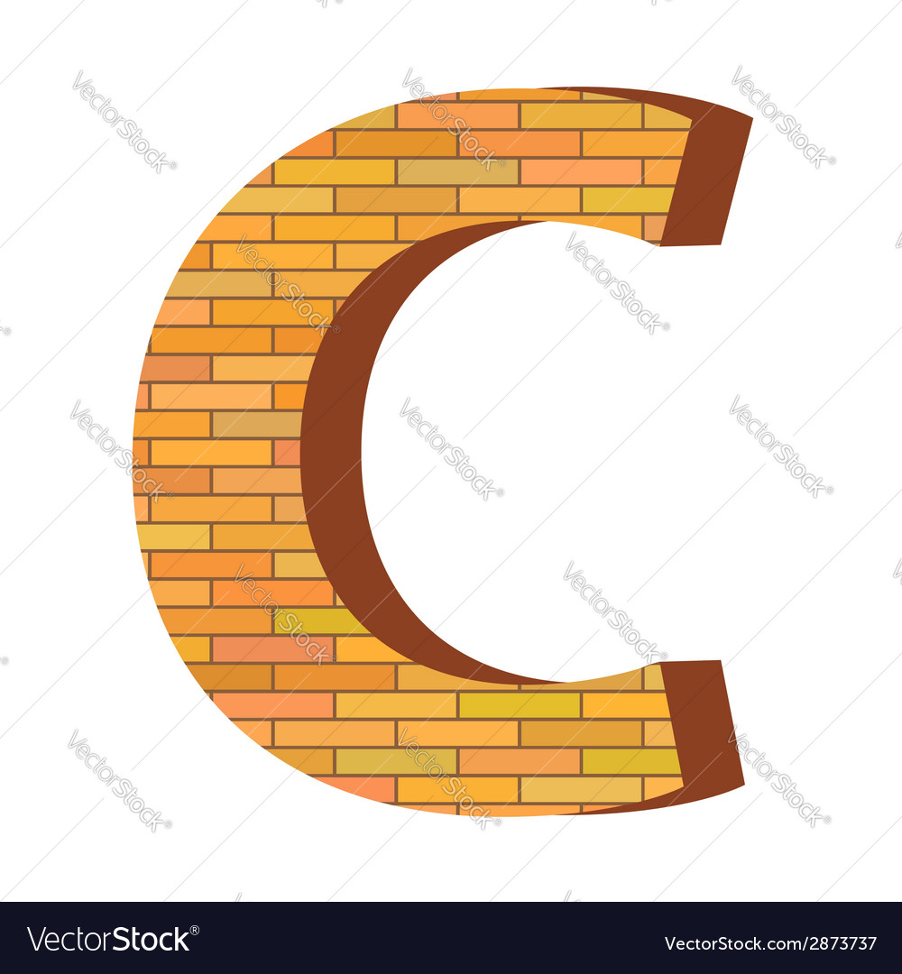 Brick letter c vector | Price: 1 Credit (USD $1)