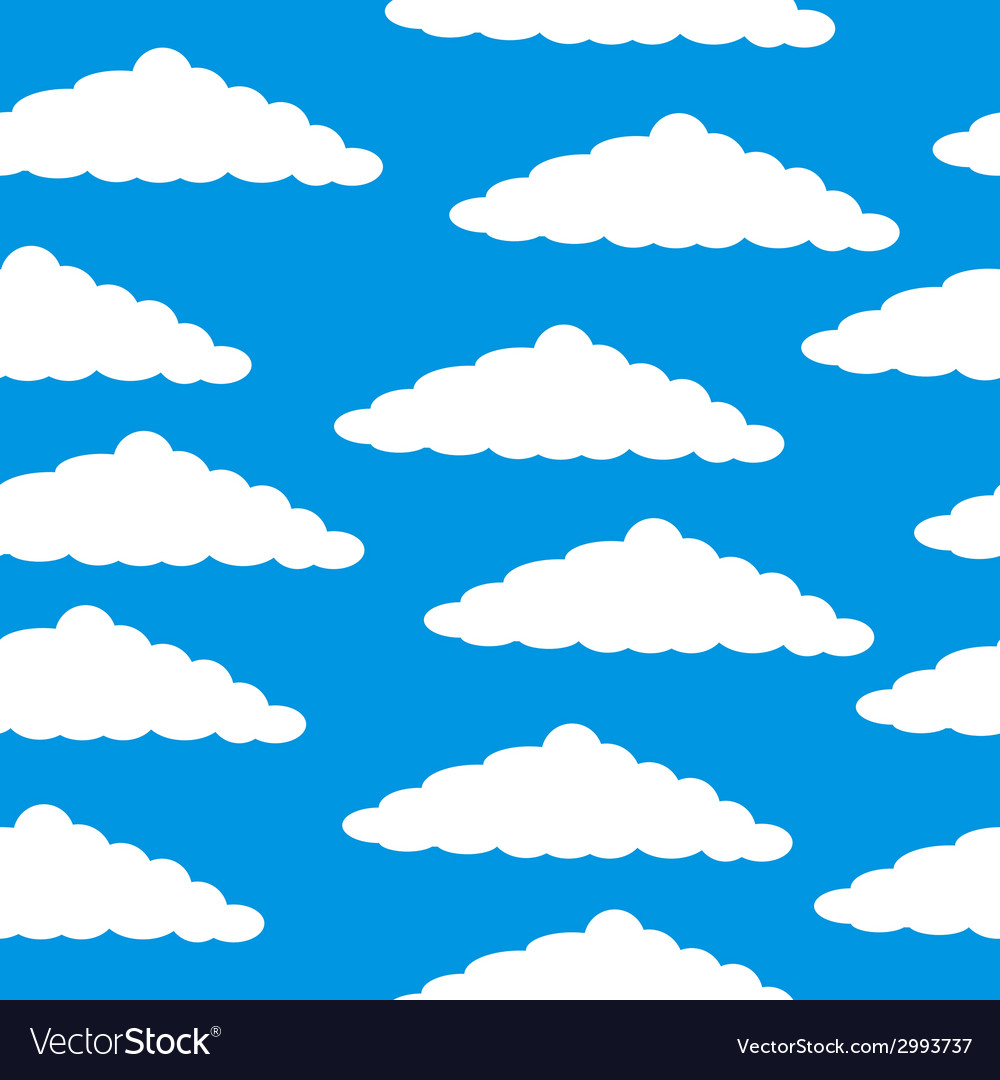 Cloud seamless pattern vector | Price: 1 Credit (USD $1)