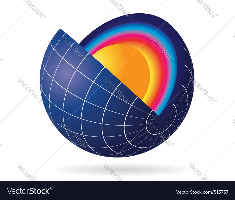 Earth cut view vector | Price: 1 Credit (USD $1)