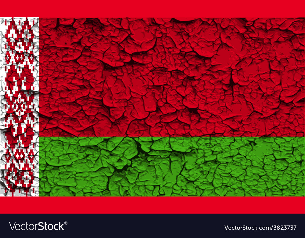 Flag of belarus with old texture vector   Price: 1 Credit (USD $1)