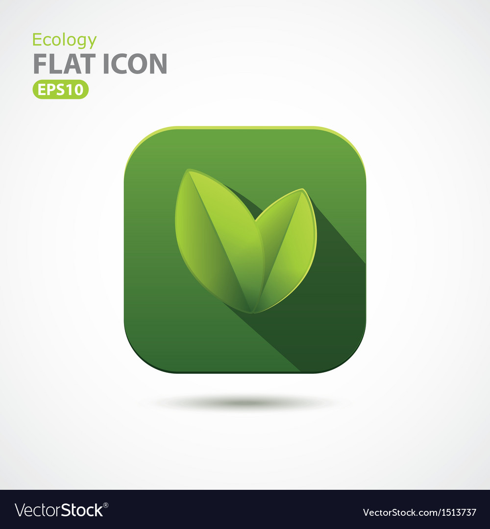 Green ecology icon in flat design vector | Price: 1 Credit (USD $1)