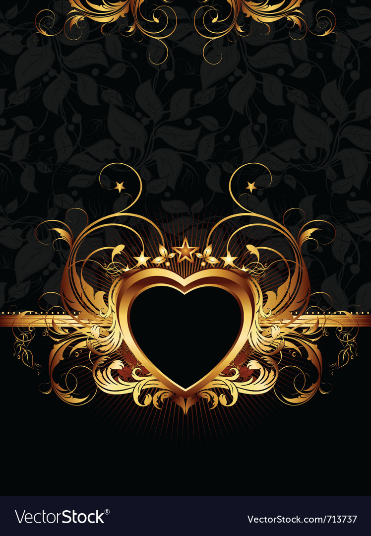 Heart forms with ornate elements vector | Price: 1 Credit (USD $1)
