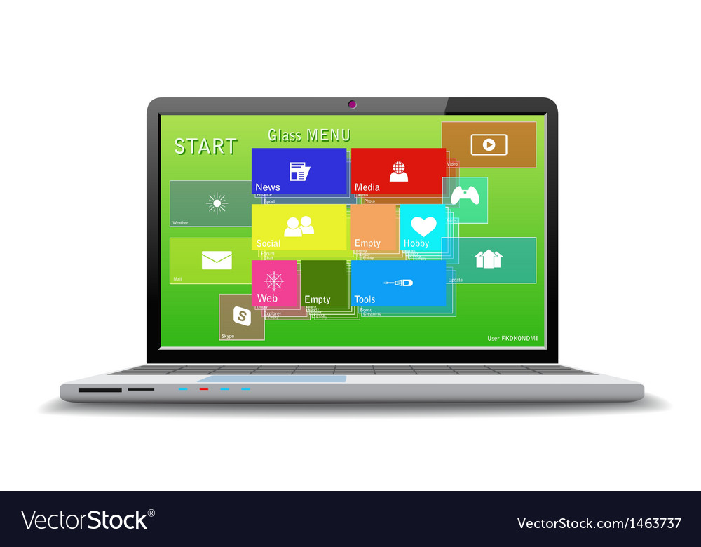 Modern computer vector | Price: 1 Credit (USD $1)