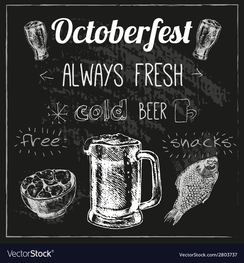Oktoberfest beer design vector | Price: 1 Credit (USD $1)