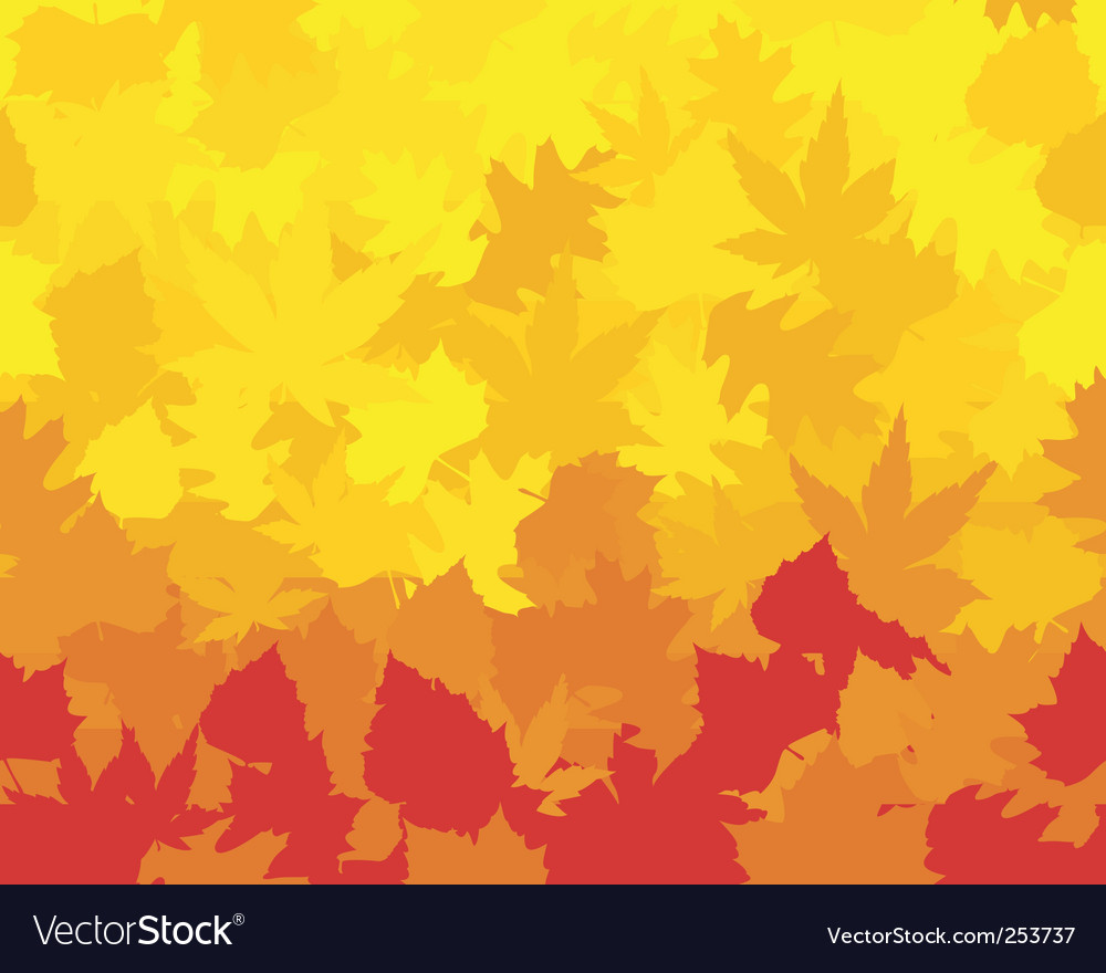 Vibrantly colored fall leaves vector | Price: 1 Credit (USD $1)