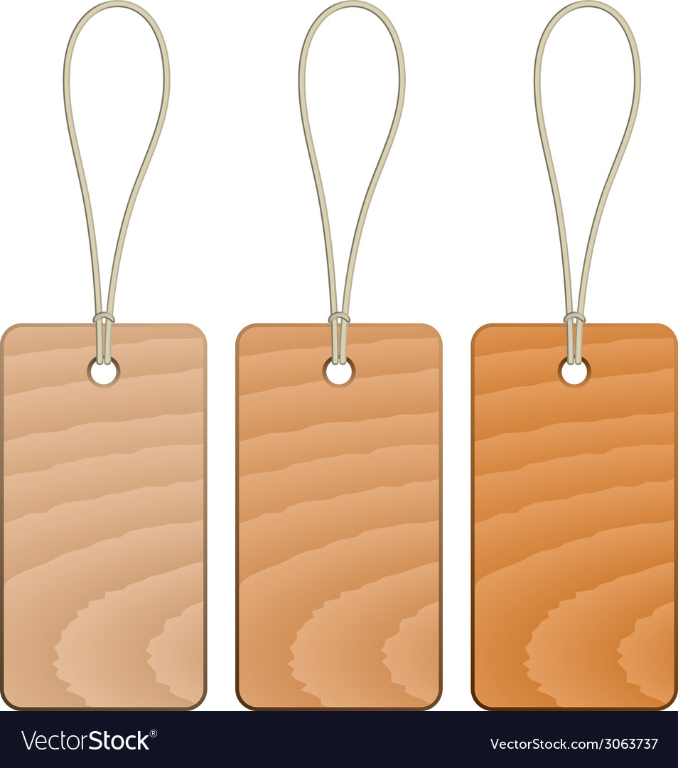 Wooden tags vector | Price: 1 Credit (USD $1)