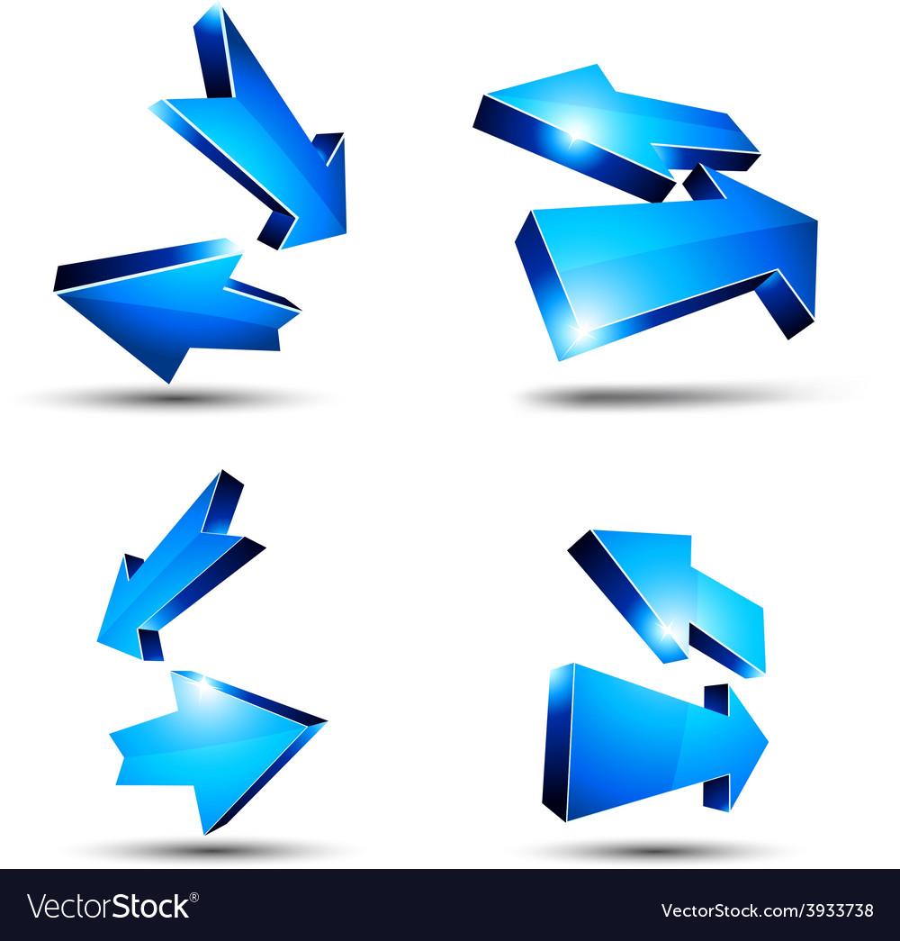 3d return arrows vector   Price: 1 Credit (USD $1)