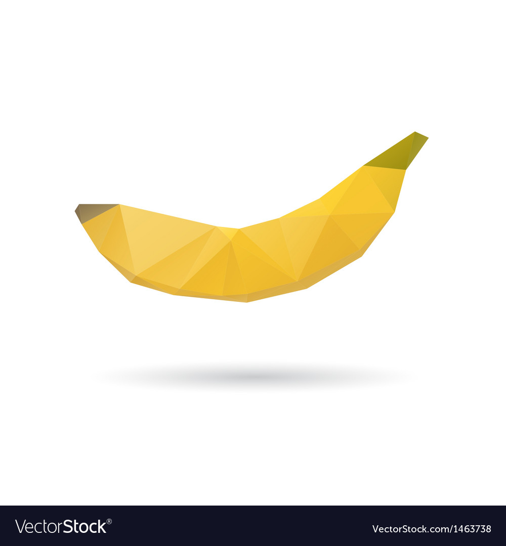 Banana abstract isolated on a white backgrounds vector | Price: 1 Credit (USD $1)