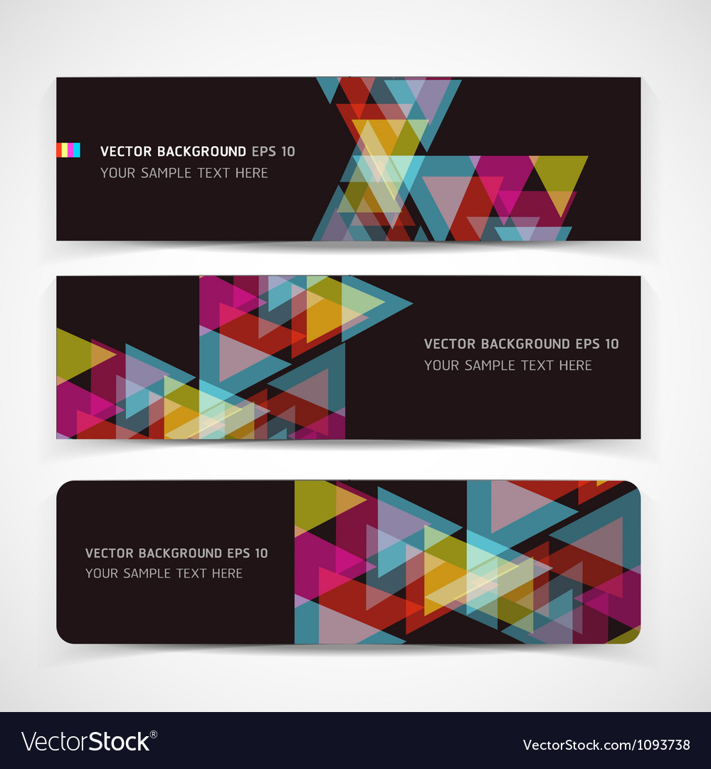 Banner abstract color background vector | Price: 1 Credit (USD $1)