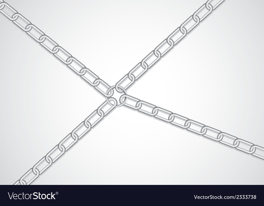Chains attached by link the center vector | Price: 1 Credit (USD $1)