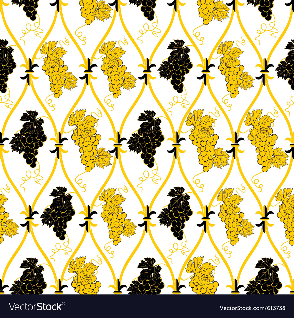 Golden grape wallpaper vector | Price: 1 Credit (USD $1)