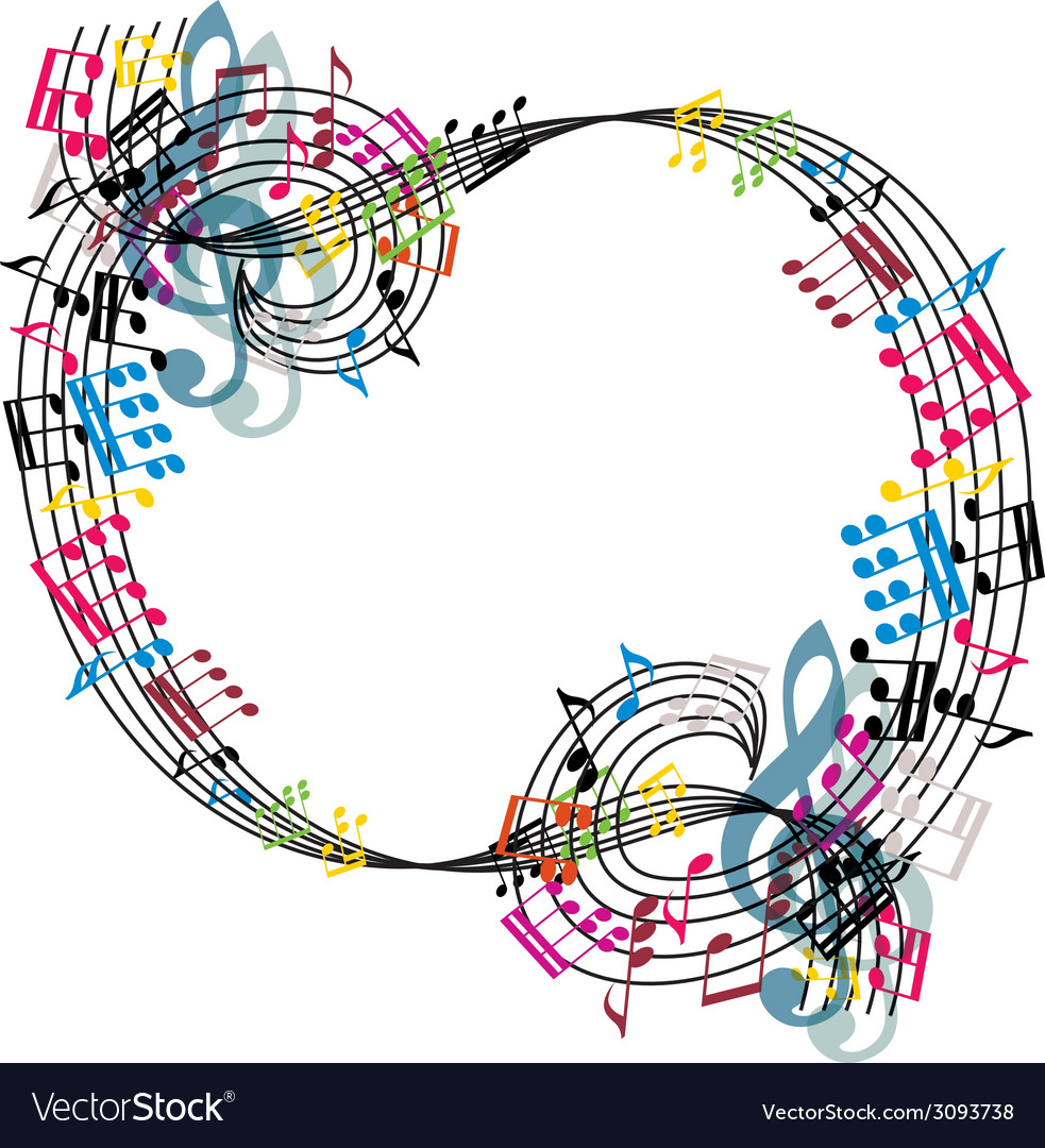 Music notes composition stylish musical theme vector | Price: 1 Credit (USD $1)