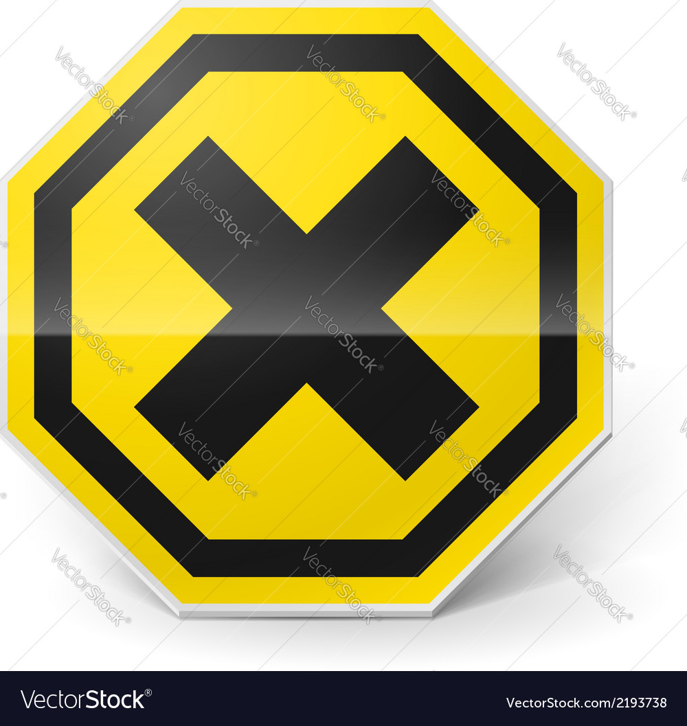 Noxious and irritating sign vector | Price: 1 Credit (USD $1)