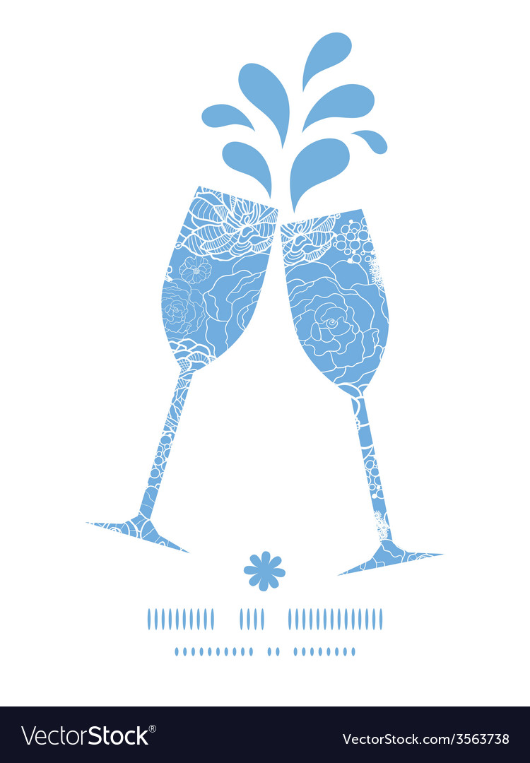 Purple lace flowers toasting wine glasses vector   Price: 1 Credit (USD $1)