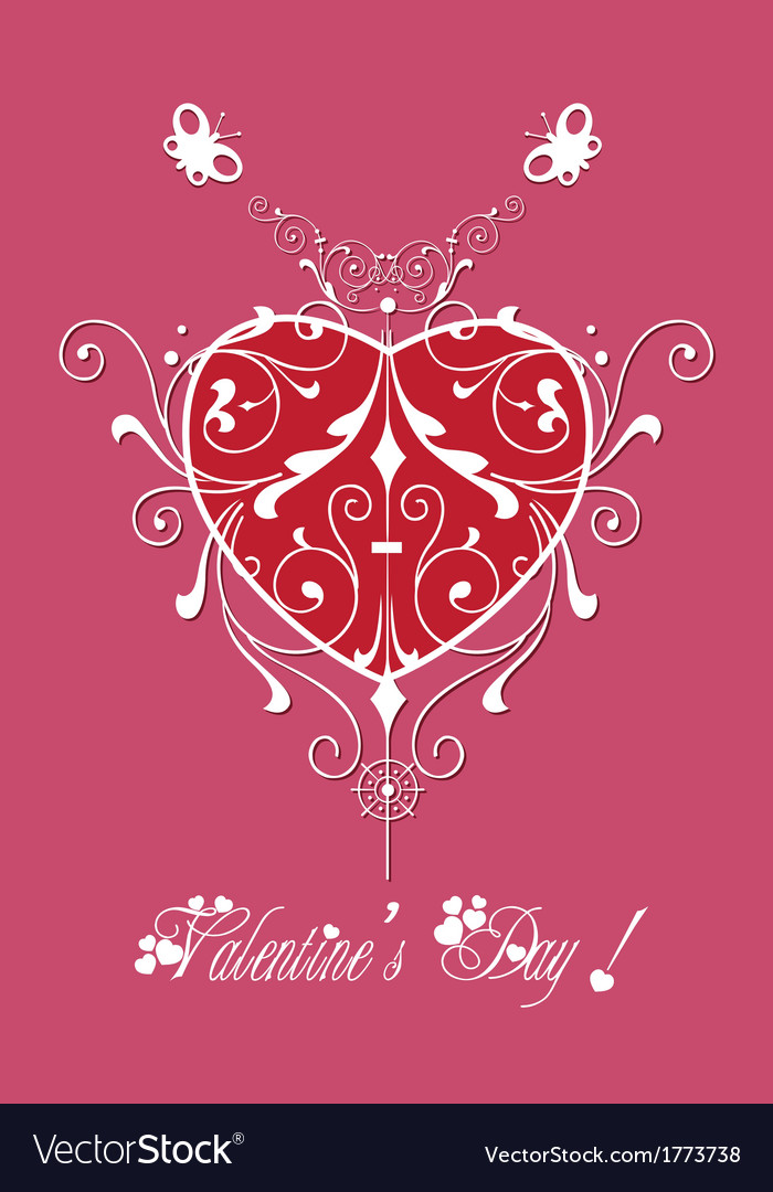 Valentine greeting hearts pattern abstract vector | Price: 1 Credit (USD $1)