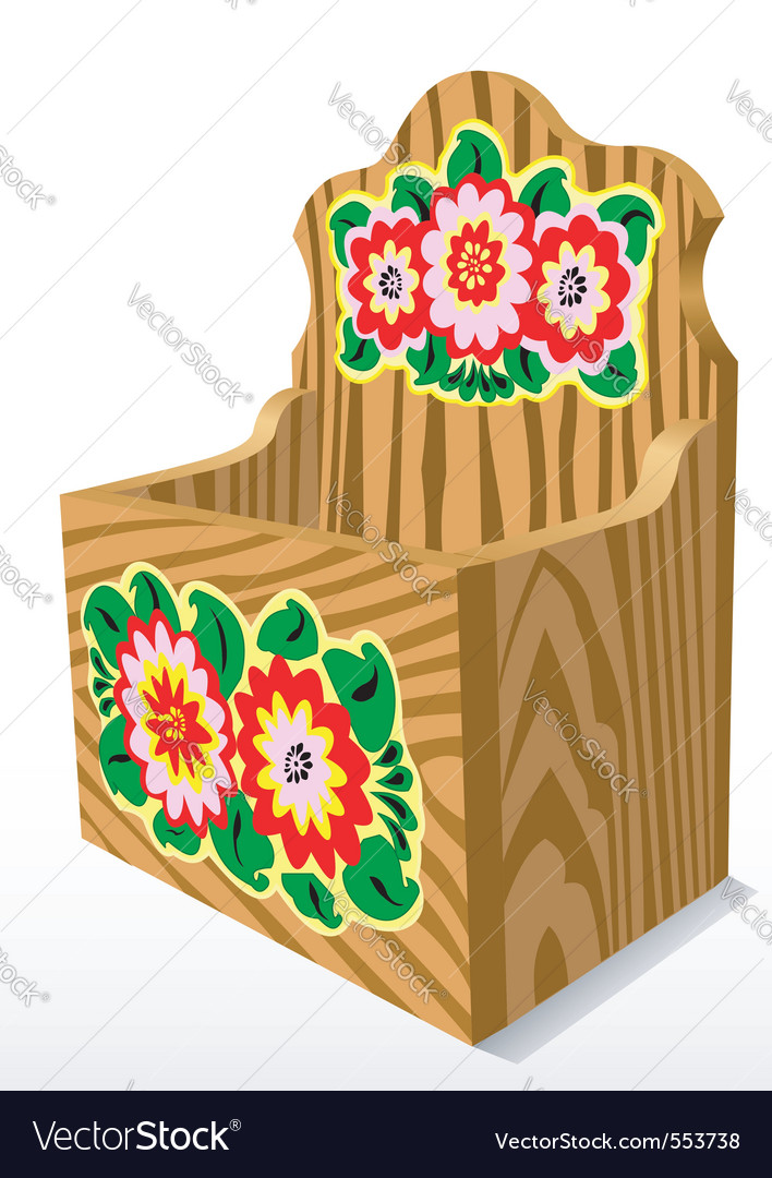 Wooden casket vector | Price: 1 Credit (USD $1)