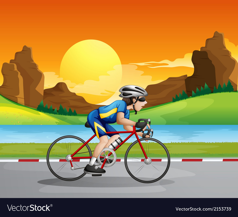 A boy biking vector | Price: 3 Credit (USD $3)