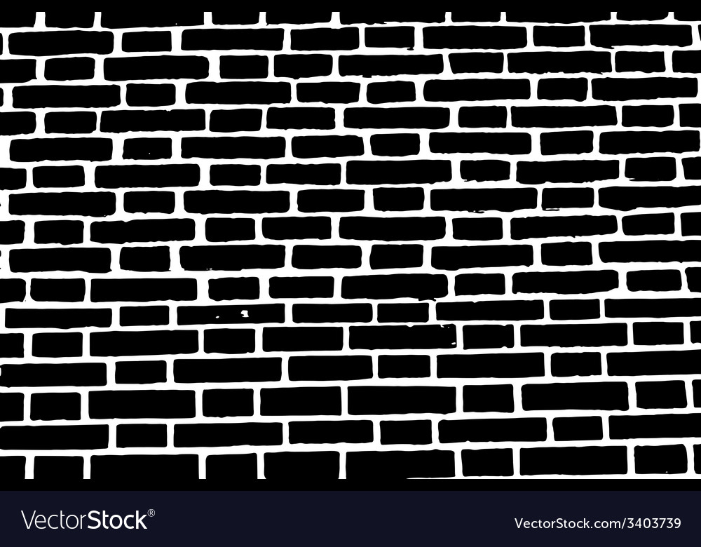 Black brick wall texture background old rough vector | Price: 1 Credit (USD $1)