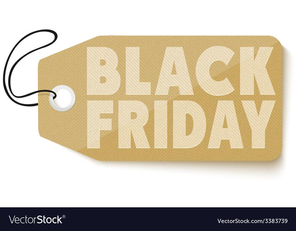 Black friday sales tag vector | Price: 1 Credit (USD $1)