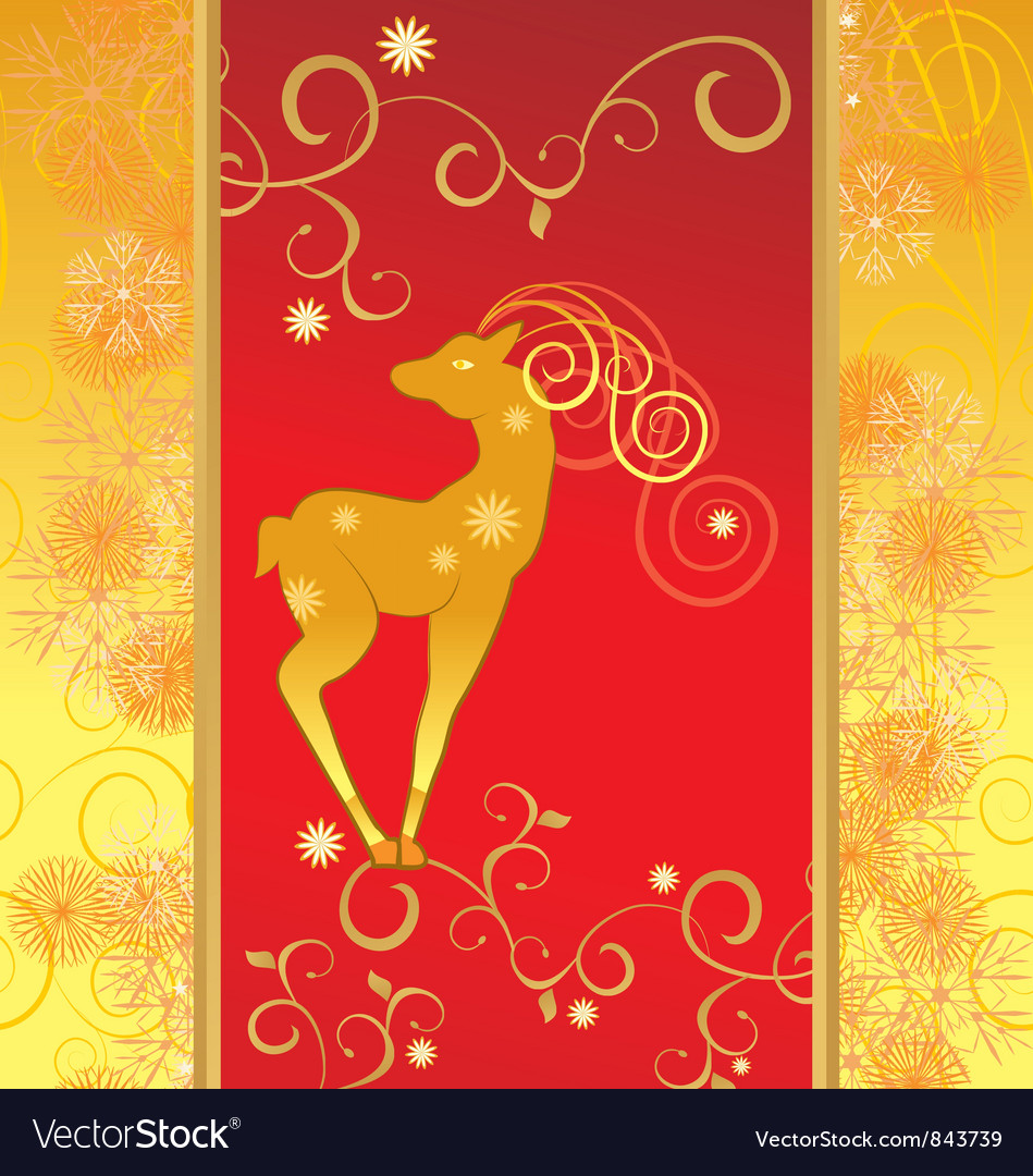 Christmas decor deer vector | Price: 1 Credit (USD $1)