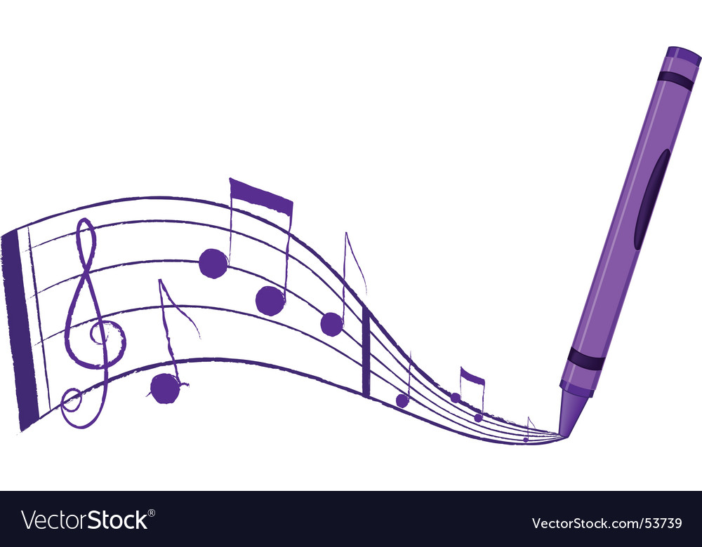 Crayon music vector | Price: 1 Credit (USD $1)