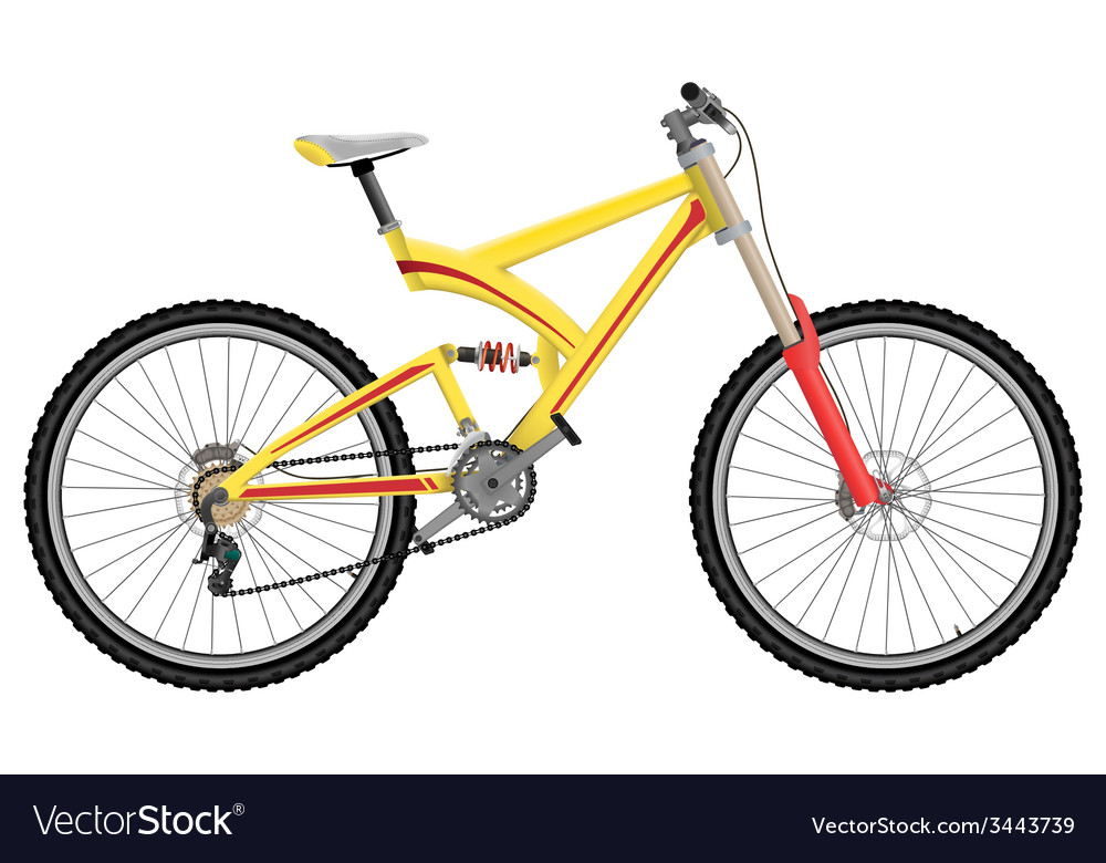 Downhill extreme sport bicycle vector | Price: 1 Credit (USD $1)