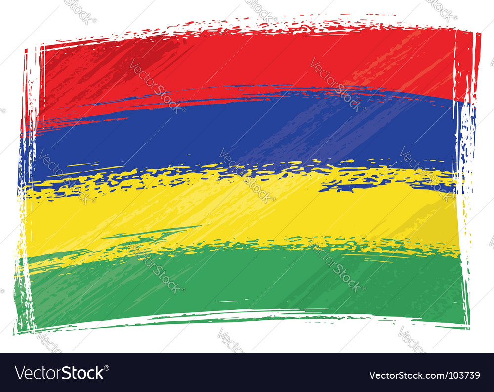 Grunge mauritius flag vector | Price: 1 Credit (USD $1)