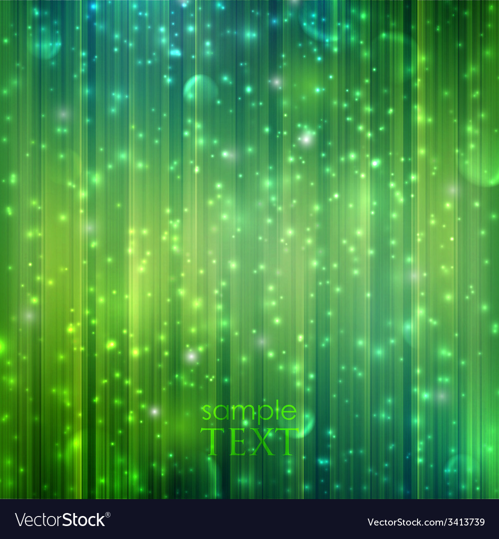 Holiday green background with sparkles vector | Price: 1 Credit (USD $1)