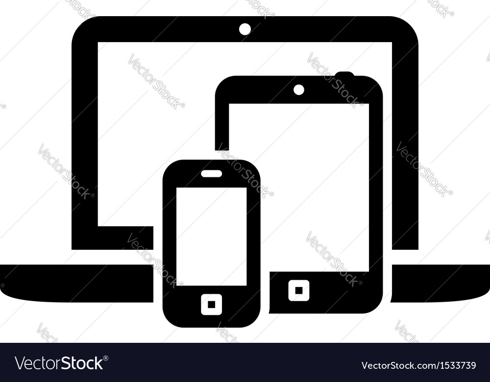 Mobile devices symbol vector | Price: 1 Credit (USD $1)