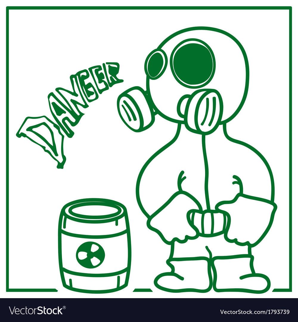 Person in a gas mask vector | Price: 1 Credit (USD $1)