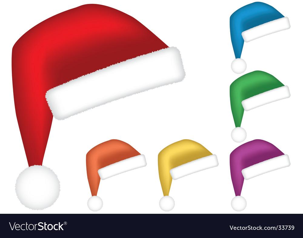 Santa caps vector | Price: 1 Credit (USD $1)