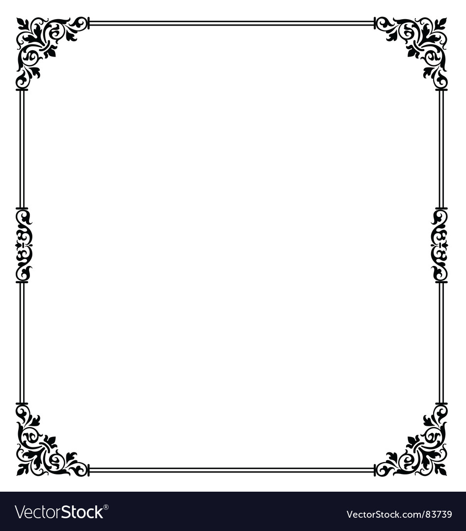 Scroll border vector