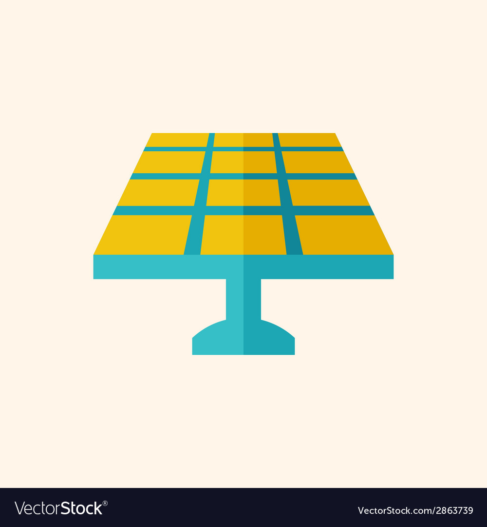 Solar energy flat icon vector | Price: 1 Credit (USD $1)