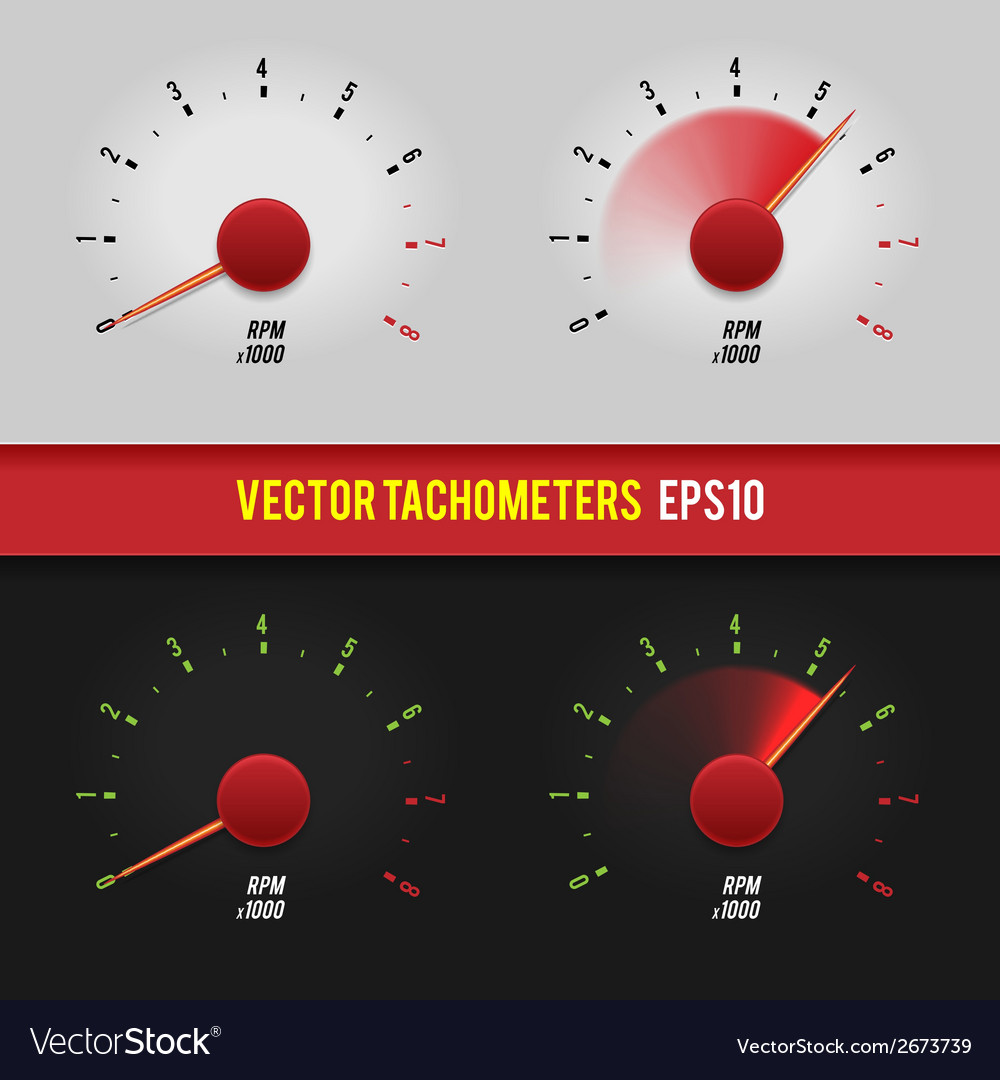 Tachometers glossy style modern vector | Price: 1 Credit (USD $1)