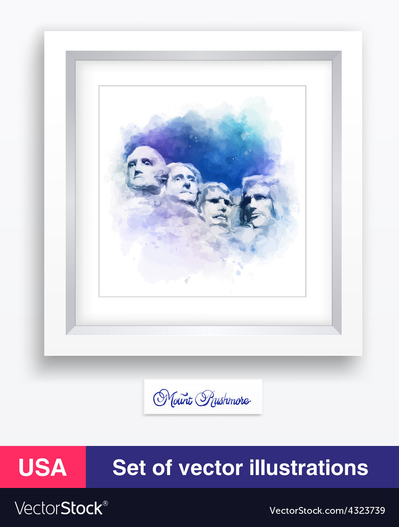 Watercolor famous landmark and mountain vector | Price: 1 Credit (USD $1)
