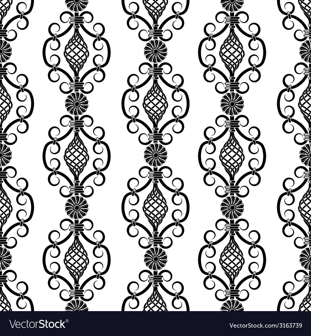 Wrought iron pattern vector | Price: 1 Credit (USD $1)