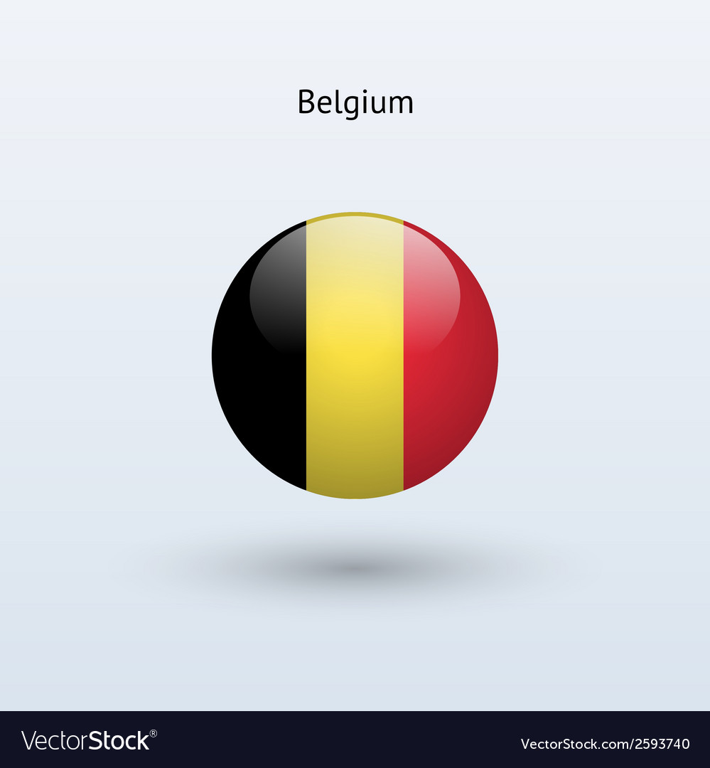 Belgium round flag vector | Price: 1 Credit (USD $1)