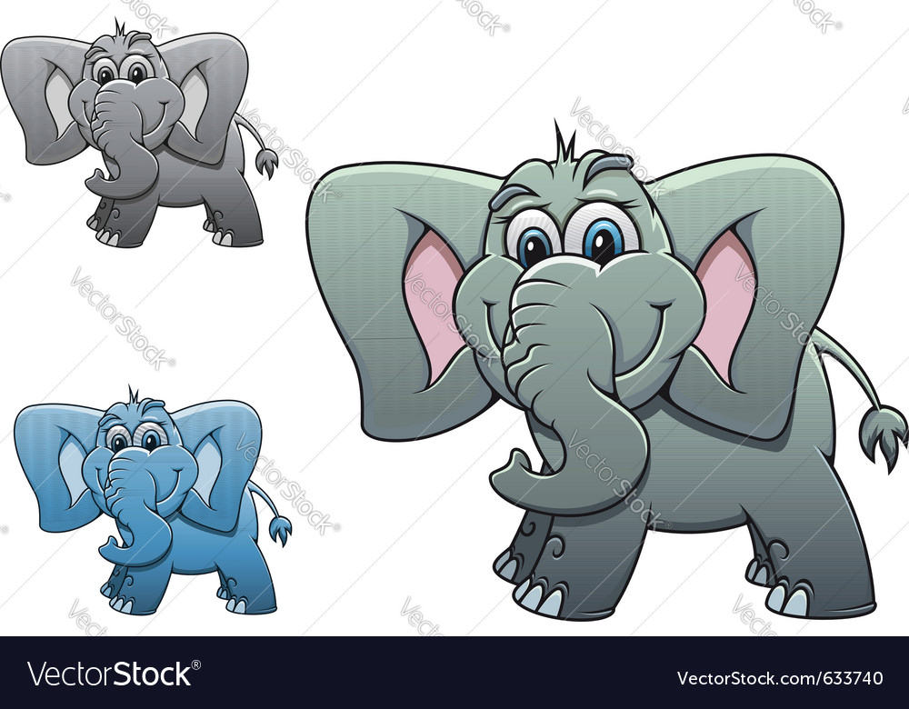 Cute elephant baby isolated on white background fo vector | Price: 1 Credit (USD $1)