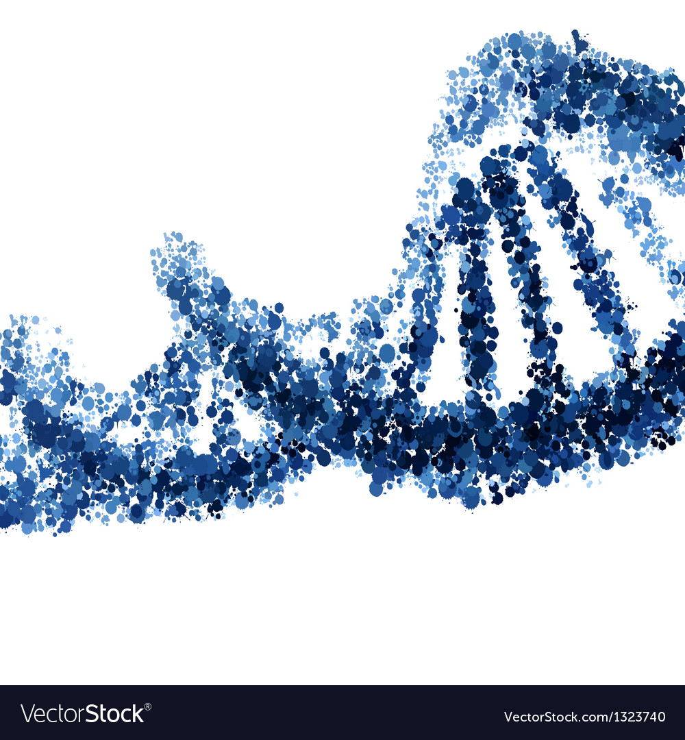 Dna helix isolated on white background vector | Price: 1 Credit (USD $1)